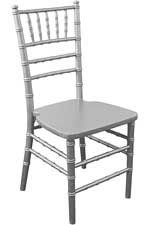 WOOD CHIAVARI CHAIR SILVER