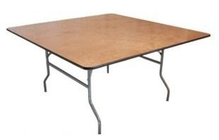 PLYWOOD 4'X4' SQUARE FOLDING TABLE