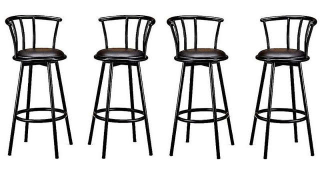 metal swivel bar stools Swivel Barstool Black metal swivel bar stools