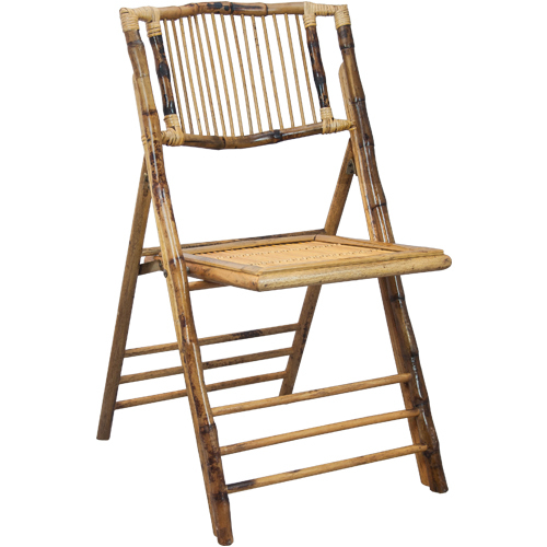 Bamboo Folding Chair Stick Back Design