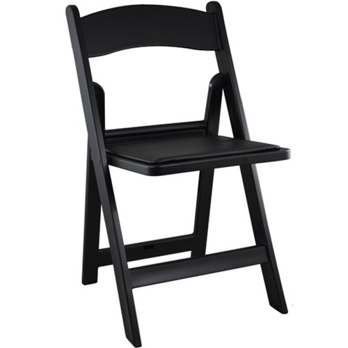 Attrayant Black Resin Folding Chair
