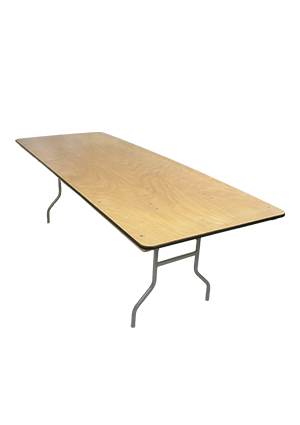 PLYWOOD 8' FOLDING TABLE