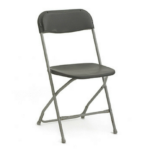 Plastic Folding Chair Charcoal