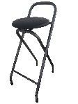 Folding Black Barstool