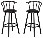 Swivel Barstool Black
