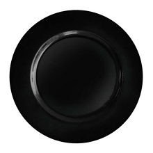 Charger plate classic style BLACK