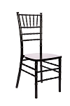 Black Wooden Chiavari Chair/Sillas Tiffany de madera negras
