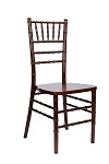 Fruitwood Chiavari Chair/Silla tiffany de madera color nuez oscuro