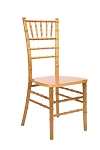 Natural Wood Chiavari Chair/Silla Tiffany de madera natural