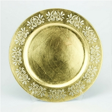 Charger Plate Laser Cut Lace GOLD