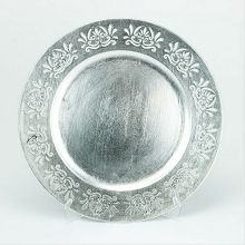 Charger Plate Laser Cut Lace SILVER