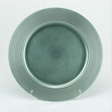 Charger Plate Ridged Design GLITTER CHARCOAL