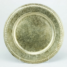 Charger Plate Roman Studded ANTIQUE CHAMPAGNE