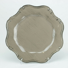 Charger Plate Baroque Stone Color LIGHT GREY BROWN