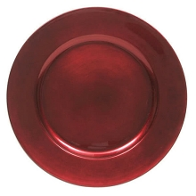 Charger plate Classic Style RED