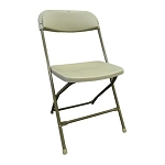 PLASTIC FOLDING CHAIR BEIGE