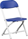 KIDS PLASTIC FOLDING CHAIR BLUE