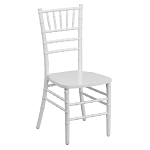 White wooden chiavari chairs/Sillas tiffany de madera blancas