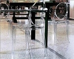 Clear Acrylic Ghost Armless Chair