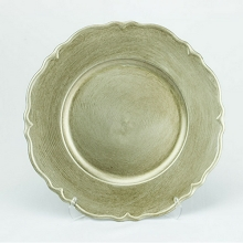 Charger Plate Metallic Antique BRUSHED CHAMPAGNE