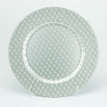 Charger Plate  GLITTER SILVER