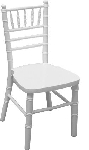 KIDS CHIAVARI WOOD CHAIR WHITE NO CUSHION