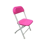 Kids Plastic folding chairs pink
