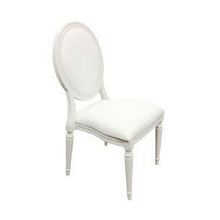 Pop Louise Banquet Chair Color WHITE