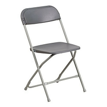 PLASTIC FOLDING CHAIR GRAY