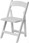 WOOD FOLDING CHAIR WHITE