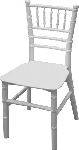 KIDS RESIN WHITE CHIAVARI CHAIR no CUSHION