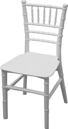 Kids Resin White Chiavari Chair With Cushion