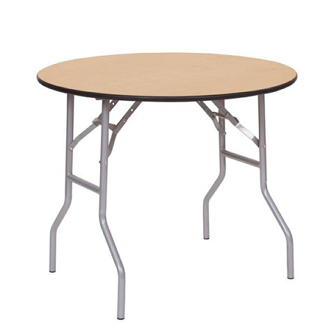 "PLYWOOD 36"" ROUND FOLDING TABLE"