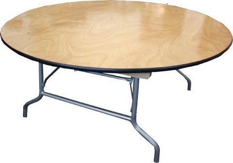 "PLYWOOD 48"" KIDS ROUND FOLDING TABLE 21"" HIGH"