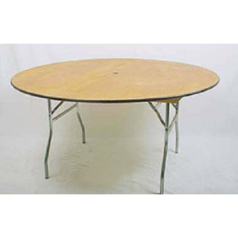 "PLYWOOD 54"" ROUND FOLDING TABLE"