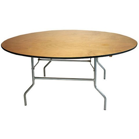"PLYWOOD 72"" ROUND FOLDING TABLE"