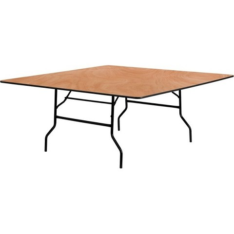 PLYWOOD 6'X6' SQUARE FOLDING TABLE