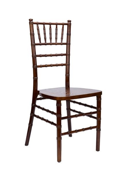 Fruitwood wood Chiavari Chair/Silla tiffany de madera color nuez oscuro