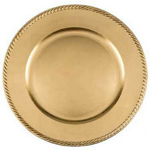 Charger Plate Classic Rope Color GOLD