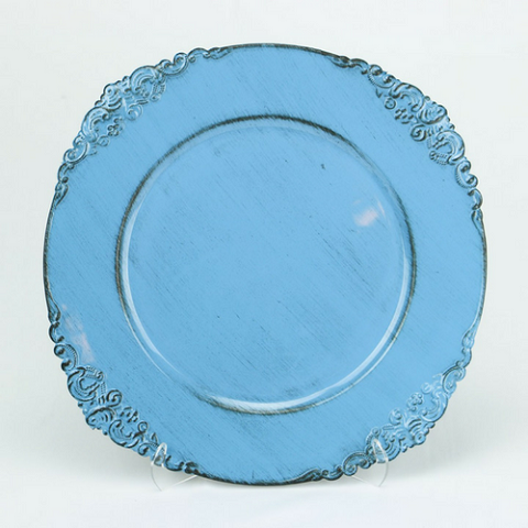Charger Plate Royal Corners LIGHT BLUE