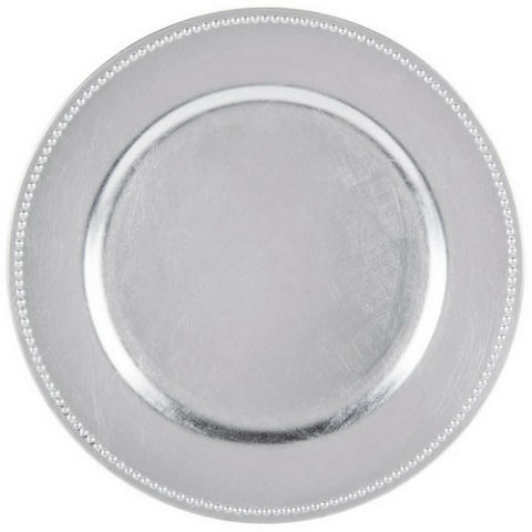 Charger Plate Classic studded Color SILVER
