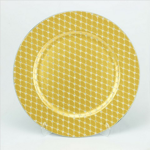 Charger Plate  GLITTER PLAID