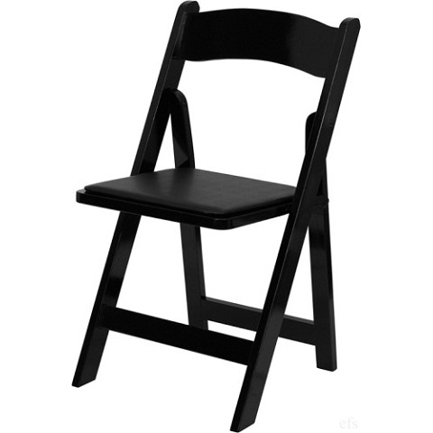WOOD FOLDING CHAIR BLACK