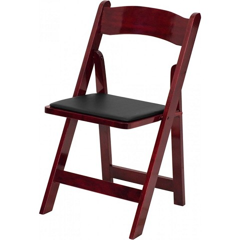 WOOD FOLDING CHAIR MAHOGANY