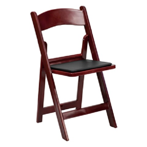 RESIN FOLDING CHAIR MAHOGANY