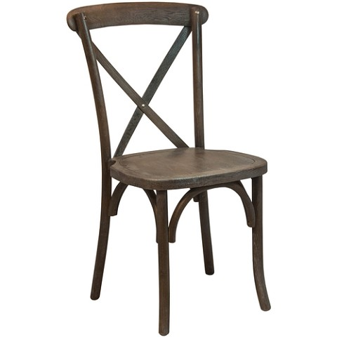 Cross Back Chair Wood Color BLACK GRAIN