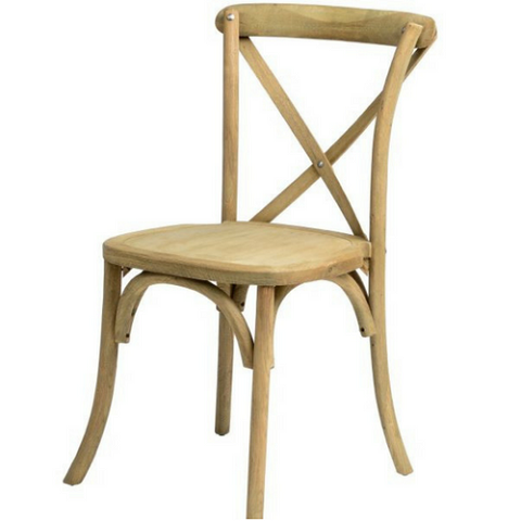 Cross Back Chair Wood Color LIGHT NATURAL