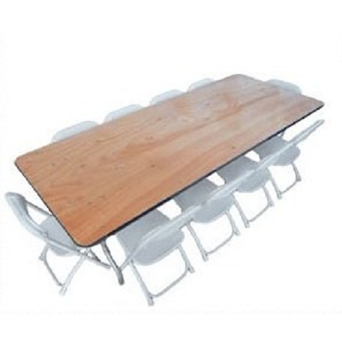 PLYWOOD 6' KIDS FOLDING TABLE
