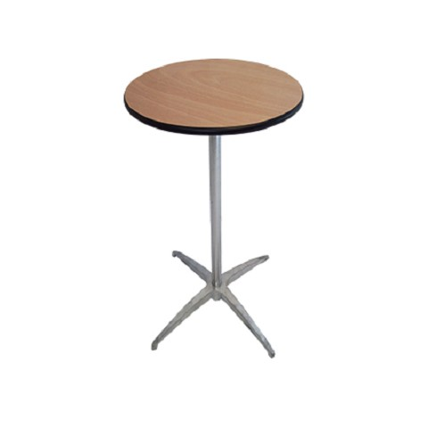 "PLYWOOD 24"" ROUND KNOCK DOWN COCKTAIL TABLE"