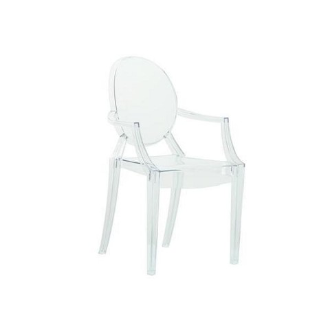 Clear acrylic ghost chairs